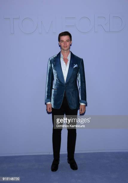Patrick Schwarzenegger attends the Tom Ford Fall/Winter 2018 Men's Runway Show at the Park Avenue Armory on February 6 2018 in New York City