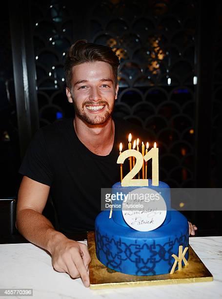 Patrick Schwarzenegger celebrates his 21st birthday at Hakkasan Las Vegas Restaurant and Nightclub at MGM Grand on September 19 2014 in Las Vegas...