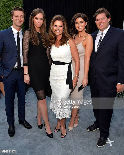 Patrick Schwarzenegger, Christina Schwarzenegger, Maria Shriver, Katherine Schwarzenegger and Christopher Schwarzenegger attend The Comedy Central...