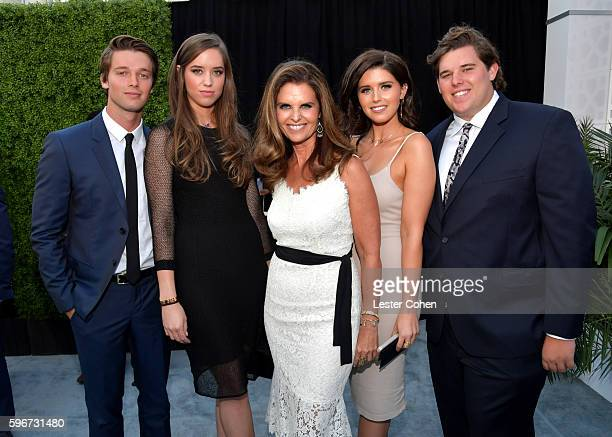 Patrick Schwarzenegger Christina Schwarzenegger Maria Shriver Katherine Schwarzenegger and Christopher Schwarzenegger attend The Comedy Central Roast...