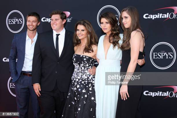 Patrick Schwarzenegger Christopher Schwarzenegger Maria Shriver Katherine Schwarzenegger and Christina Schwarzenegger attend The 2017 ESPYS at...