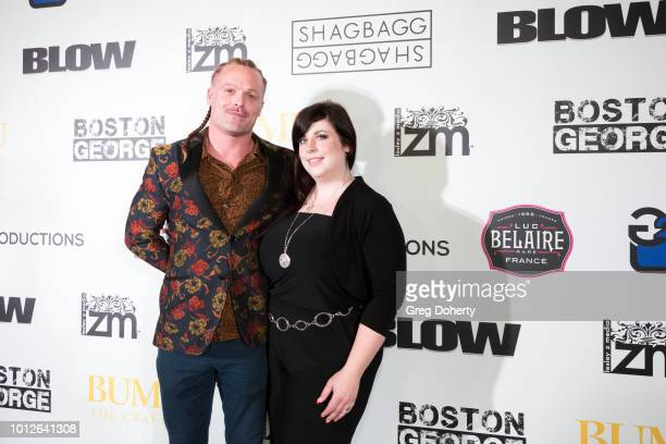 Patrick Schweiker and Noreen Diani attends George Jung's Birthday Celebration And Screening Of Blow at TCL Chinese 6 Theatres on August 6 2018 in...
