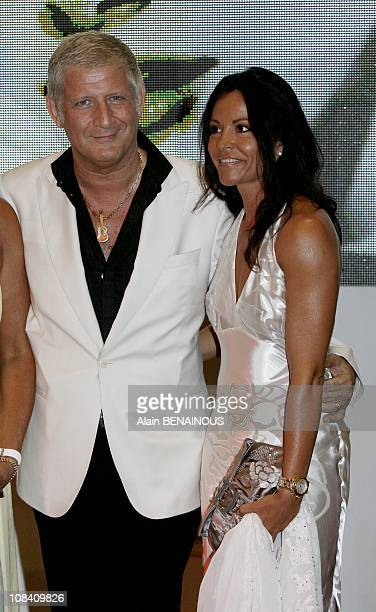 Patrick Sebastien and his wife in Monaco on July 28 2007