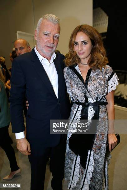 Patrick Seguin and Alexia Niedzielski attend the Societe des Amis du Musee d'Art Moderne de la Ville de Paris Dinner on October 17 2017 in Paris...
