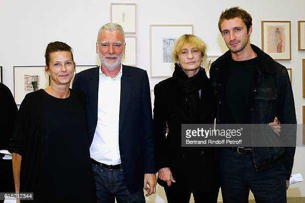 Patrick Seguin with his wife Laurence and Victoria Niarchos with her son Theo Niarchos attend Galerie Patrick Seguin presents 'Carte Blanche To...