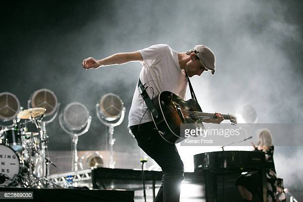 Patrick Sheehy of Walking on Cars perform at 3Arena Dublin on November 12 2016 in Dublin Ireland