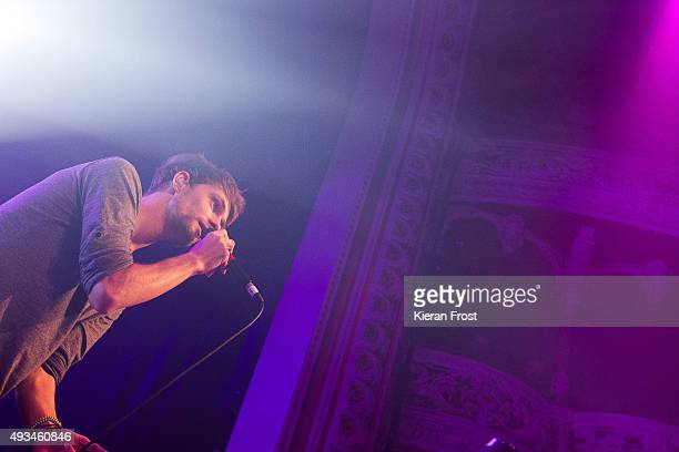 Patrick Sheehy of Walking on Cars performs at The Olympia Theatre on October 20, 2015 in Dublin, Ireland.