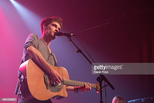 Patrick Sheehy of Walking on Cars performs at The Olympia Theatre on October 20 2015 in Dublin Ireland