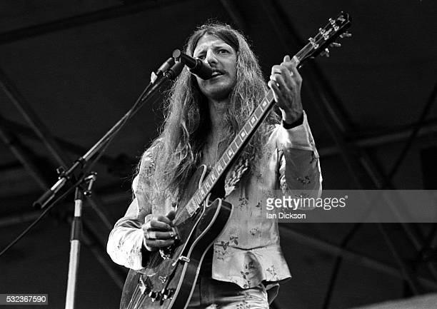 Patrick Simmons of Doobie Brothers performing on stage Knebworth United Kingdom 1974