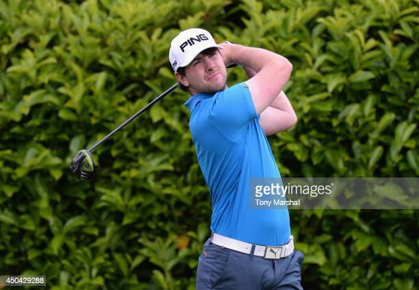 Patrick Small of Galway Golf Club plays his first shot on the 1st Tee during the Powerade PGA Assistants' Championship Final at The Covenrty Golf...