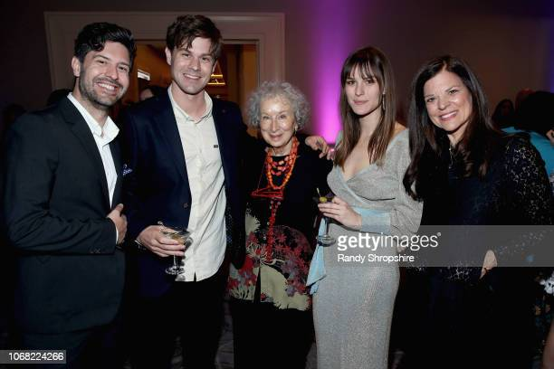 Patrick SmalleyWall Tim SmalleyWall Margaret Atwood Kelly SmalleyWall and Susan Smalley attend Equality Now's Make Equality Reality Gala 2018 at The...