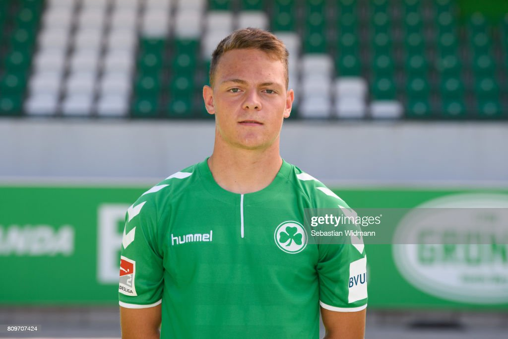 Patrick Sontheimer of SpVgg Greuther Fuerth poses during the team presentation at Sportpark Ronhof on July 6, 2017 in Fuerth, Germany.