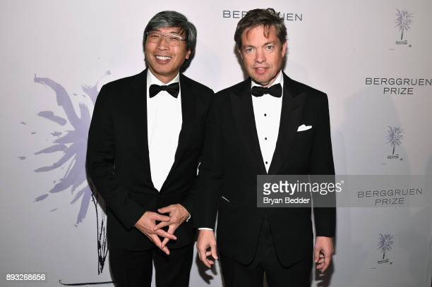 Patrick SoonShiong and Chairman of the Berggruen Institute Nicolas Berggruen attend the Berggruen Prize Gala at the New York Public Library on...