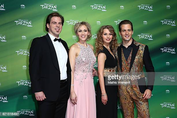 Patrick Stanke alias Kercheak Sabrina Weckerlin alias Kala Alexander Klaws alias Tarzan and Tessa Sunniva van Tol alias Jane attend 'Tarzan' Musical...