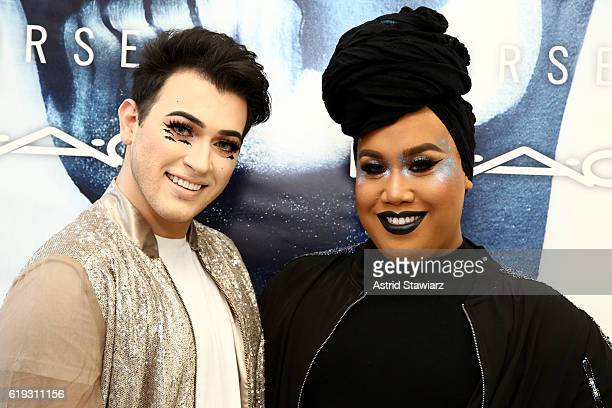Patrick Starrr and Manny Mua attend MAC Cosmetics Halloween Event at MAC Union Square on October 30 2016 in New York City