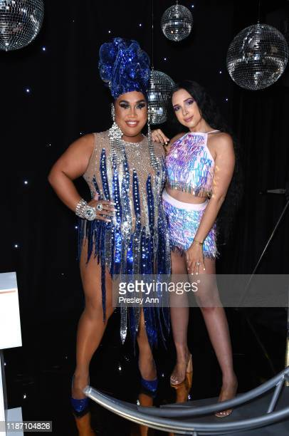 Patrick Starrr and Mariale Marrero attend Patrick Starrr birthday party on November 11 2019 in Los Angeles California