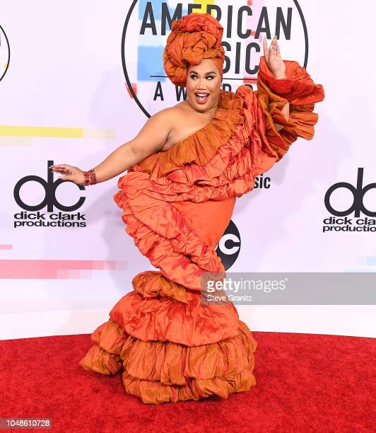 Patrick Starrr arrives at the 2018 American Music Awards at Microsoft Theater on October 9 2018 in Los Angeles California