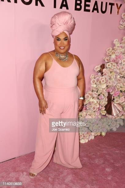 Patrick Starrr arrives at the Launch of Patrick Ta's Beauty Collection at Goya Studios on April 04 2019 in Los Angeles California
