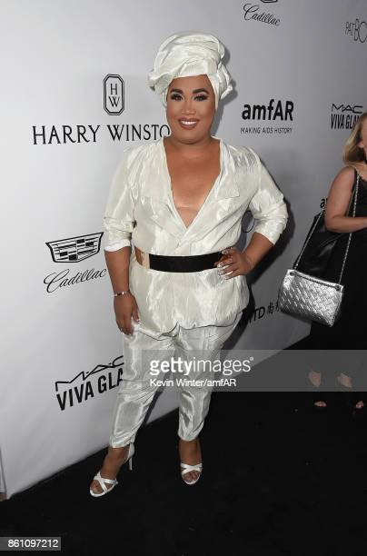 Patrick Starrr attends the amfAR Gala Los Angeles 2017 at Ron Burkle's Green Acres Estate on October 13 2017 in Beverly Hills California