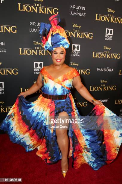 """Patrick Starrr attends the World Premiere of Disney's """"THE LION KING"""" at the Dolby Theatre on July 09, 2019 in Hollywood, California."""
