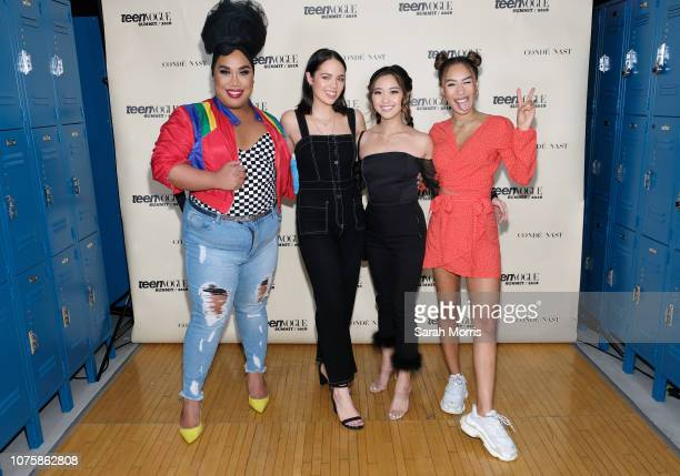 Patrick Starrr Claudia Sulewski Jenn Im and Eva Gutowski attend the Teen Vogue Summit at 72andSunny on December 1 2018 in Los Angeles California