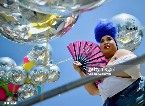 Patrick Starrr is seen at the LA Pride Parade on June 09 2019 in West Hollywood California