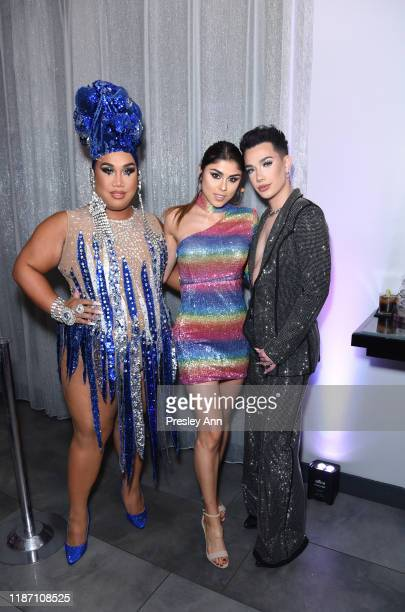 Patrick Starrr Paula Galindo and James Charles attend Patrick Starrr birthday party on November 11 2019 in Los Angeles California