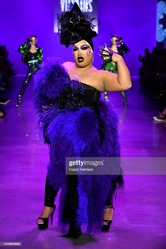 Patrick Starr walks the runway at the Disney Villains x The Blonds NYFW Show during New York Fashion Week: The Shows at Gallery I at Spring Studios on September 7, 2018 in New York City.