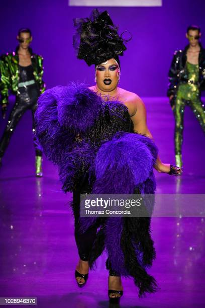 Patrick Starrr walks the runway during Disney Villains x The Blonds fashion show at Gallery I at Spring Studios on September 7 2018 in New York City