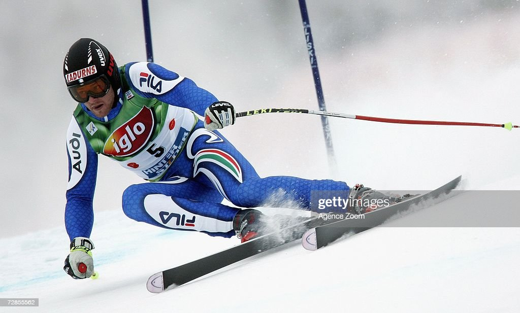 Patrick Staudacher of Italy competes on his way to taking 8th place during the FIS Skiing World Cup Men's Super-G on December 20, 2006 in Hinterstoder, Austria.