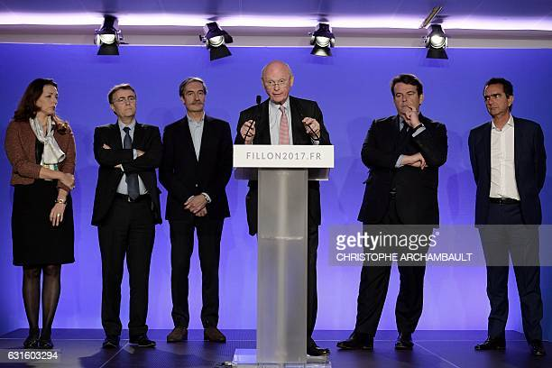 Patrick Stefanini campaign director of Les Republicains rightwing party's candidate for the French 2017 presidential election Francois Fillon speaks...