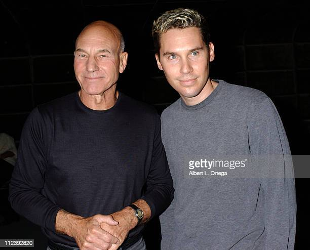 Patrick Stewart and Bryan Singer during The Lion in Winter World Premiere Showtime Network Sceening at Pacific Design Center in West Hollywood CA...