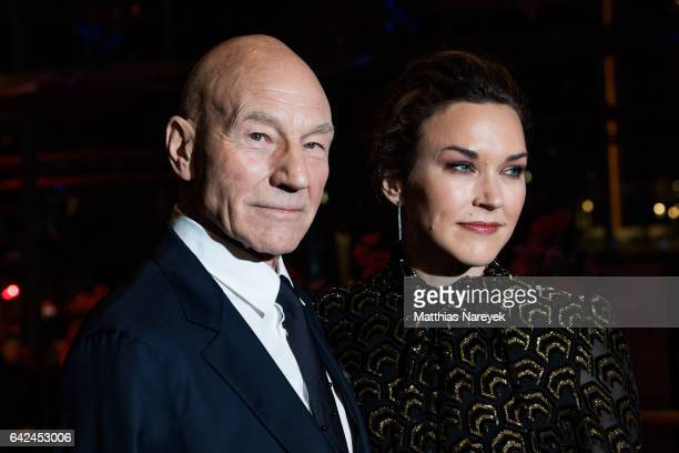 Patrick Stewart and his wife Sunny Ozel attend the 'Logan' premiere during the 67th Berlinale International Film Festival Berlin at Berlinale Palace...