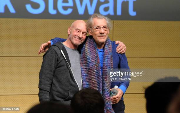 Patrick Stewart and Ian McKellen speak at John L Tishman Auditorium at University Center on January 28 2014 in New York City