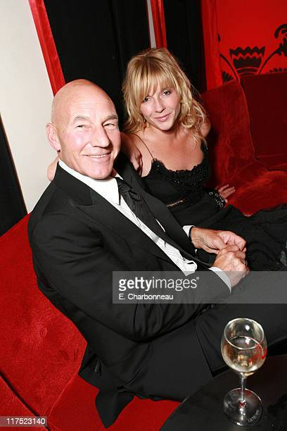 Patrick Stewart and Lisa Dillon during 20th Century Fox Premiere of XMen The Last Stand after party at Hotel 314 in Cannes France