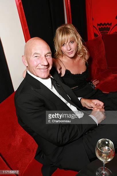 Patrick Stewart and Lisa Dillon