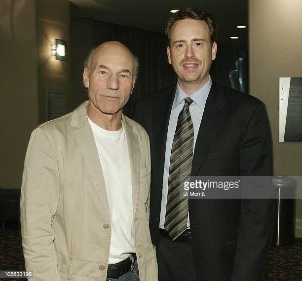 Patrick Stewart and Robert Greenblatt during Showtime Networks Presentation to The Television Critics Association at The Hollywood Renaisssance Hotel...