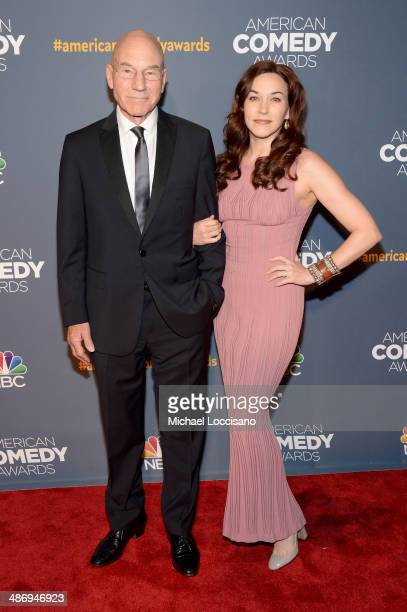 Patrick Stewart and Sunny Ozell attend 2014 American Comedy Awards at Hammerstein Ballroom on April 26, 2014 in New York City.
