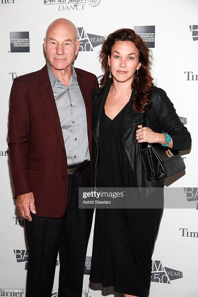 Patrick Stewart and Sunny Ozell attend BAM 30th Next Wave Gala at Skylight One Hanson on September 27, 2012 in New York City.