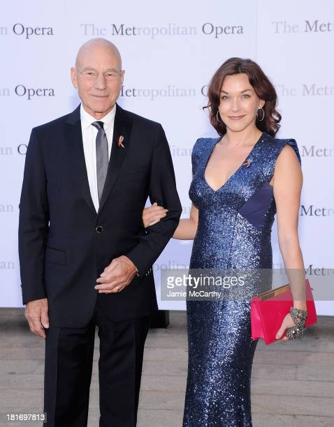 Patrick Stewart and Sunny Ozell attend the Metropolitan Opera Season Opening Production Of Eugene Onegin at The Metropolitan Opera House on September...