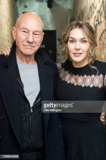 Patrick Stewart and Sunny Ozell pose for a portrait backstage at the launch of AmericanaFest UK at The Borderline on November 7, 2018 in London,...