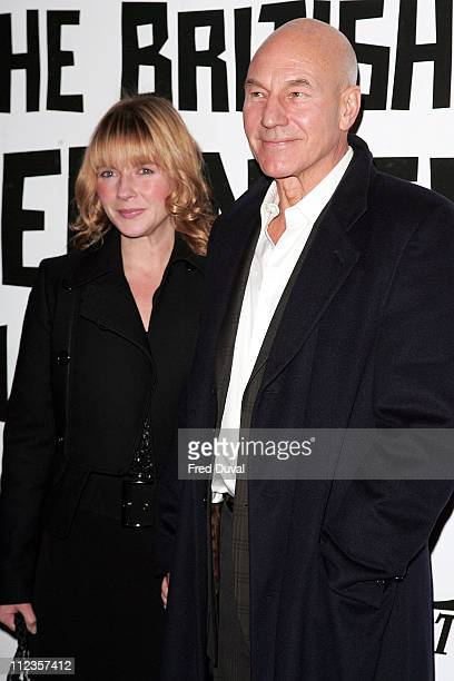 Patrick Stewart and wife Lisa Dillon during The 2005 British Independent Film Awards Inside Arrivals at Hammersmith Palais in London Great Britain