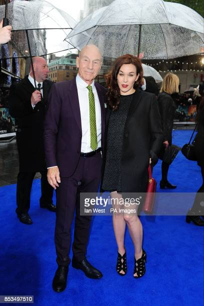 Patrick Stewart and wife Sunny Ozell arriving at the X-Men Days of Future Past UK premieree, at The West End Odeon, Leicester Square, London.