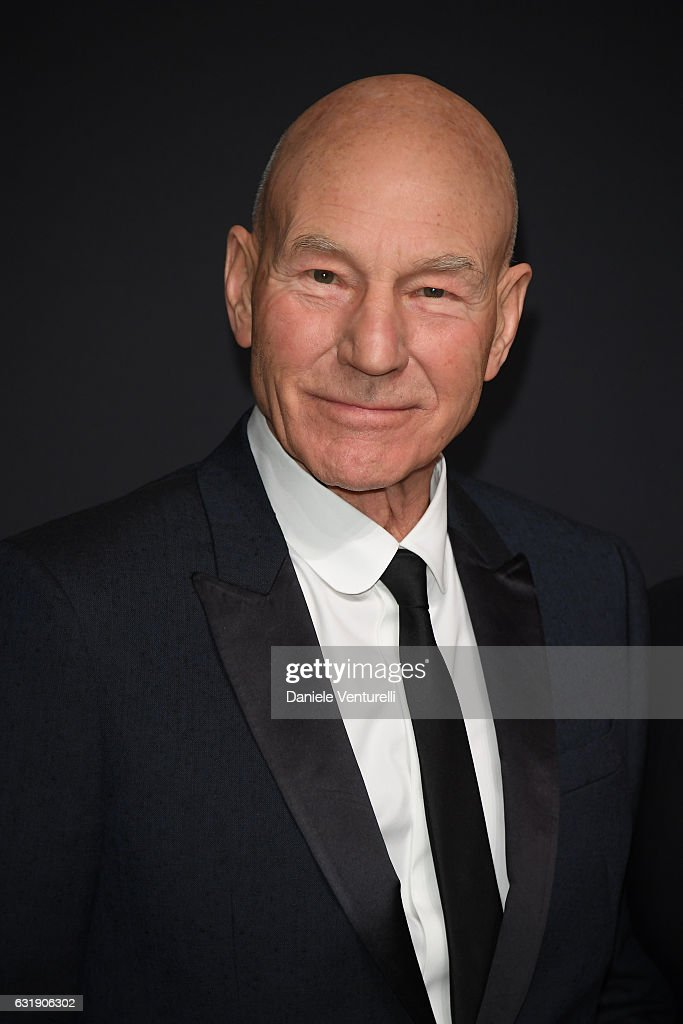 Patrick Stewart arrive at IWC Schaffhausen at SIHH 2017 'Decoding the Beauty of Time' Gala Dinner on January 17, 2017 in Geneva, Switzerland.