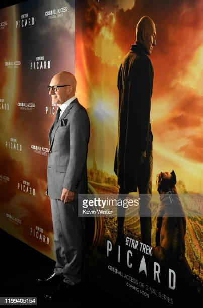 Patrick Stewart arrives at the premiere of CBS All Access' Star Trek Picard at ArcLight Cinerama Dome on January 13 2020 in Hollywood California