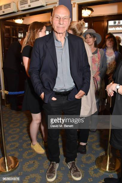 Patrick Stewart arrives at the press night performance of 'Consent' at the Harold Pinter Theatre on May 29 2018 in London England