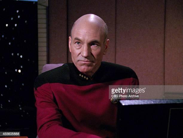 Patrick Stewart as Captain JeanLuc Picard in the STAR TREK THE NEXT GENERATION episode Hollow Pursuits Original air date April 28 1990 Season 3...