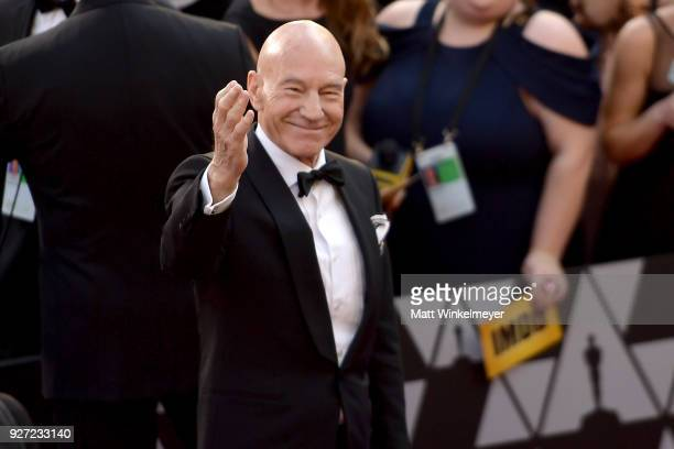 Patrick Stewart attends the 90th Annual Academy Awards at Hollywood Highland Center on March 4 2018 in Hollywood California