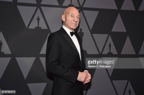 Patrick Stewart attends the Academy of Motion Picture Arts and Sciences' Scientific and Technical Awards Ceremony on February 10, 2018 in Beverly...