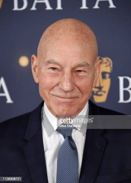 Patrick Stewart attends the BAFTA Film Gala at the The Savoy Hotel ahead of the EE British Academy Film Awards this Sunday on February 08 2019 in...